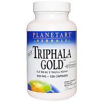 "Planetary Herbals, ""Трифала Голд"", здоровье желудочно-кишечного тракта, 550 мг, 120 капсул, купить, цена, отзывы"