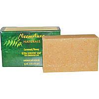 Neemaura Naturals Inc, Ультранежное мыло, кукурузная крупа/мед, 93 г, купить, цена, отзывы