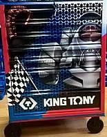 Тумба на колесах, 7 ящиков, подшипник, тормоз,  (выставочная) King Tony