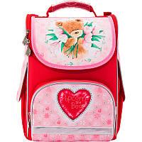 Рюкзак школьный каркасный (ранец) 501 Popcorn  Bear-2 PO17-501S-2 Kite