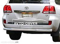 Защита заднего бампера для Toyota LC200 2008-2016 от ИМ Автообвес (п.к. AK)