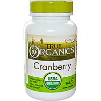 Enzymatic Therapy, True Organics, клюква, 30 таблеток, купить, цена, отзывы