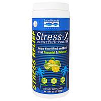 Trace Minerals Research, Стресс-X, Порошок Магния, Лимон, Лайм 8,8 унции (250 г), купить, цена, отзывы