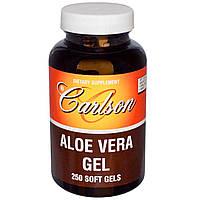 Carlson Labs, Гель Алоэ Вера, 250 гелевых капсул, купить, цена, отзывы