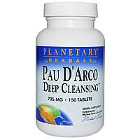 Planetary Herbals, Pau D'Arco Deep Cleansing, 756 mg, 150 Tablets