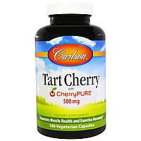 Carlson Labs, Вишня, 500 мг, 180 вегетарианских капсул, купить, цена, отзывы