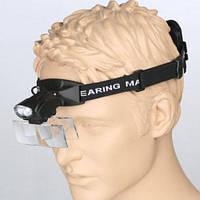 Лупа наголовная с подсветкой на резинке 1X — 6X увеличения Magnifier 9892C