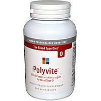 D'adamo, Polyvite, поливитамины для крови типа О, 120 капсул, купить, цена, отзывы