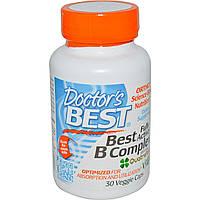 Doctor's Best, Лучший полностью активный комплекс витамина B, 30 вегетарианских капсул, купить, цена, отзывы
