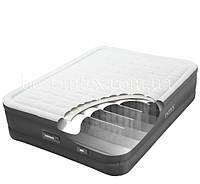 Велюр кровать 64484USB LED с встроенным эл насосом 220В, 131-191-46 см