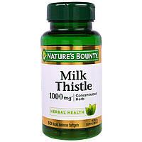 Nature's Bounty, Расторопша, 1000 мг*, 50 мягких капсул, купить, цена, отзывы
