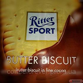 Шоколад молочный Ritter Sport Bitter Biscuits (Риттер Спорт с печеньем), 100 г