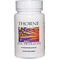 Thorne Research, Пиколинат цинка, 60 капсул, купить, цена, отзывы