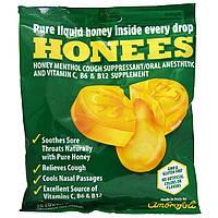 Honees, Средство от кашля с медом, ментолом и эвкалиптом, 20 леденцов от кашля, купить, цена, отзывы
