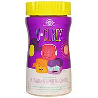Solgar, U-Cubes, жевательные мультивитамины и минералы для детей, 60 жевательных конфет, купить, цена, отзывы