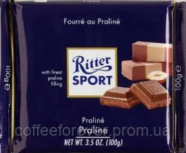 Шоколад молочный Ritter Sport Praline (Риттер Спорт с пралине), 100 г