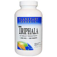 Planetary Herbals, Трифала, здоровье желудочно-кишечного тракта, 1,000 мг, 180 таблеток, купить, цена, отзывы