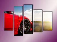 """Модульная картина """"Ferrari"""". Печать на холсте"""