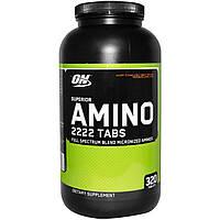Optimum Nutrition, Superior Amino 2222 Tabs, 320 таблеток, купить, цена, отзывы