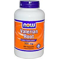 Now Foods, Корень валерианы, 500 мг, 250 капсул, купить, цена, отзывы