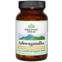 Organic India, Органическая ашвагандха, 90 растительных капсул, купить, цена, отзывы