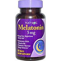Natrol, Мелатонин , 5 мг, 60 таблеток, купить, цена, отзывы