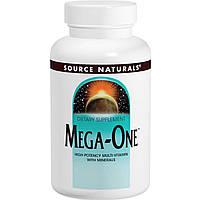 Source Naturals, Mega-One, Высокоэффективные мультивитамины и минералы, 60 таблеток, купить, цена, отзывы