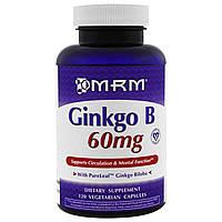 MRM, Гинко Б, 60 мг, 120 веганских капсул