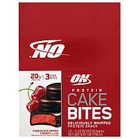 Optimum Nutrition, Cake Bites, Chocolate Dipped Cherry, 12-2.22 oz (63 g) Bars, Net Wt 1.67 lb (756 g)