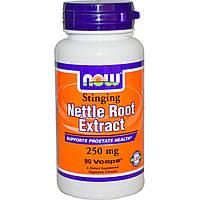 Now Foods, Экстракт корня крапивы, 250 мг, 90 капсул в растительной оболочке, купить, цена, отзывы