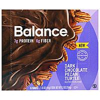 Balance Bar, Батончик Здорового Питания, Темный шоколад с Пеканом, 6 батончиков, 1,55 унции (44 г) каждый, купить, цена, отзывы