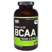 Optimum Nutrition, Капсулы BCAA, большой размер, 1000 мг, 400 капсул, купить, цена, отзывы