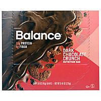 Balance Bar, Батончик Здорового Питания, Хрустящий Темный Шоколад, 6 батончиков, 1,58 унции (45 г) каждый, купить, цена, отзывы
