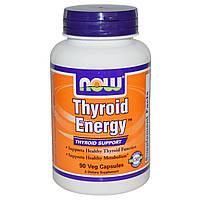 Now Foods, Энергия щитовидной железы (Thyroid Energy), поддержка функций щитовидной железы, 90 капсул, купить, цена, отзывы