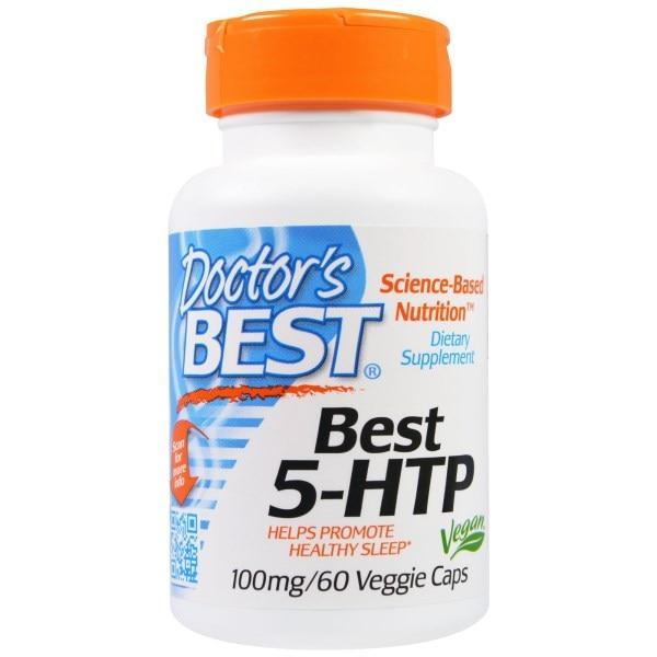 Doctors Best, Best 5-HTP, 100 мг, 60 вегетарианских капсул