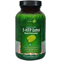Irwin Naturals, Двойная эффективность, 5-гидрокситриптофан Экстра, 60 мягких желатиновых капсул с жидким наполнением