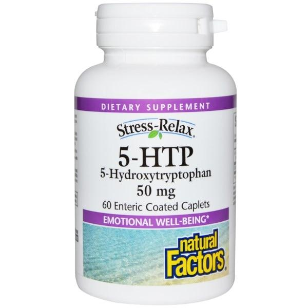 Natural Factors, Natural Factors, 5-HTP, 50 mg, 60 Enteric Покрытые Капсулы