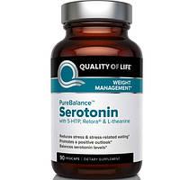Quality of Life Labs, Pure Balance, серотонин, 90 капсул