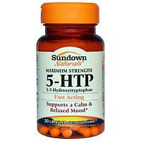 Sundown Naturals, Максимальная сила 5-HTP, 30 капсул