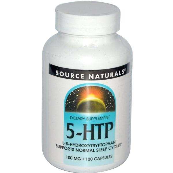 Source Naturals, 5-HTP, 100 мг, 120 капсул