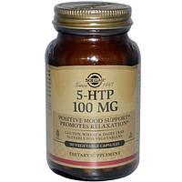 Solgar, 5-гидрокситриптофан, 100 мг, 90 вегетарианских капсул