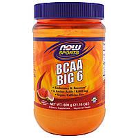 Now Foods, Sports, BCAA Big 6, Natural Watermelon Flavor, 21.16 oz (600 g), купить, цена, отзывы