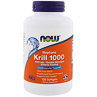 Now Foods, Neptune Krill 1000, 1000 mg, 120 Softgels, купить, цена, отзывы