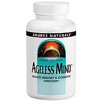 Source Naturals, Добавка для памяти и работы мозга Ageless Mind, 60 таблеток, купить, цена, отзывы