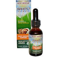 Fungi Perfecti, Host Defense, Stamets 7 Extract, ежедневная иммунная поддержка, 1 жидкая унция (30 мл), купить, цена, отзывы