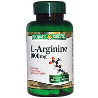 Nature's Bounty, L-аргинин, 1000 мг, 50 таблеток, купить, цена, отзывы
