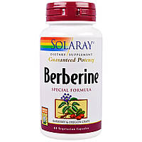 Solaray, Berberine Special Formula, 60 Veggie Capsules, купить, цена, отзывы
