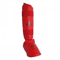 Защита голени и стопы Adidas WKF (Красная)
