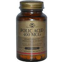 Solgar, Фолиевая кислота, 400 мкг, 250 таблеток, купить, цена, отзывы