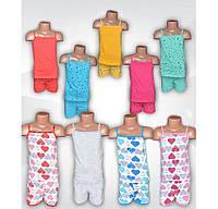 Пижама летняя с шортами для девочки, хлопок, р.р. 28-38